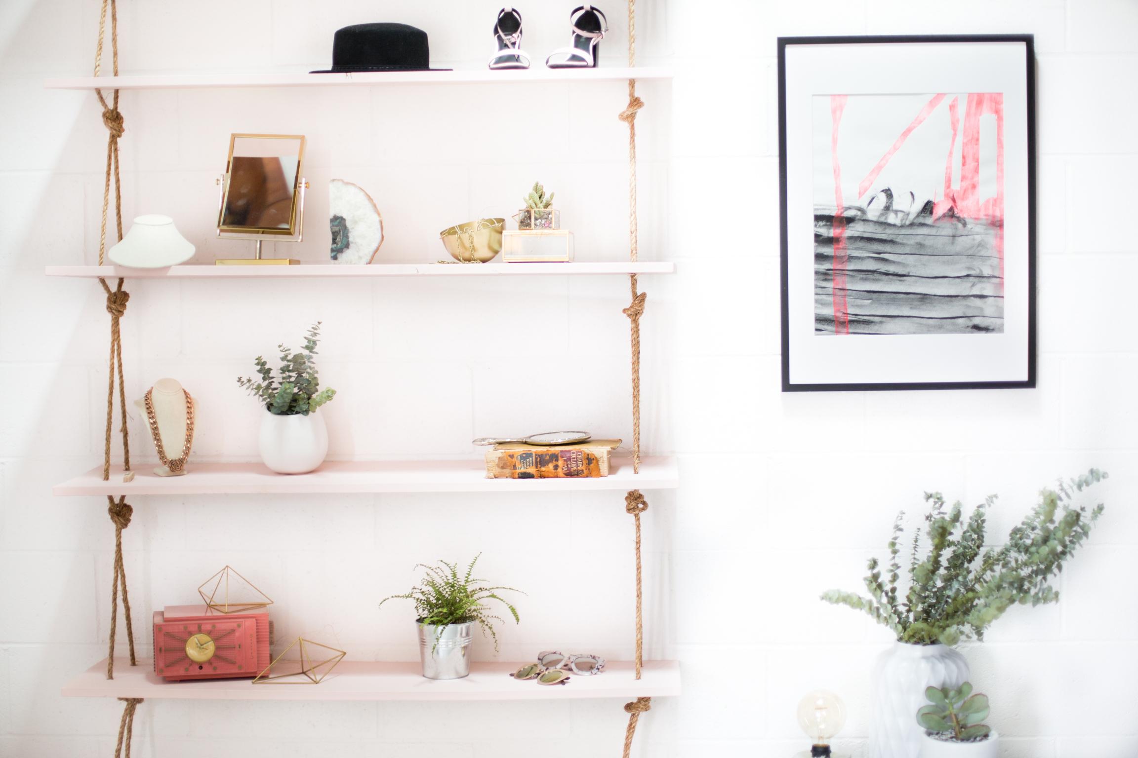 a pi mess plant beautiful hanging shelf diy