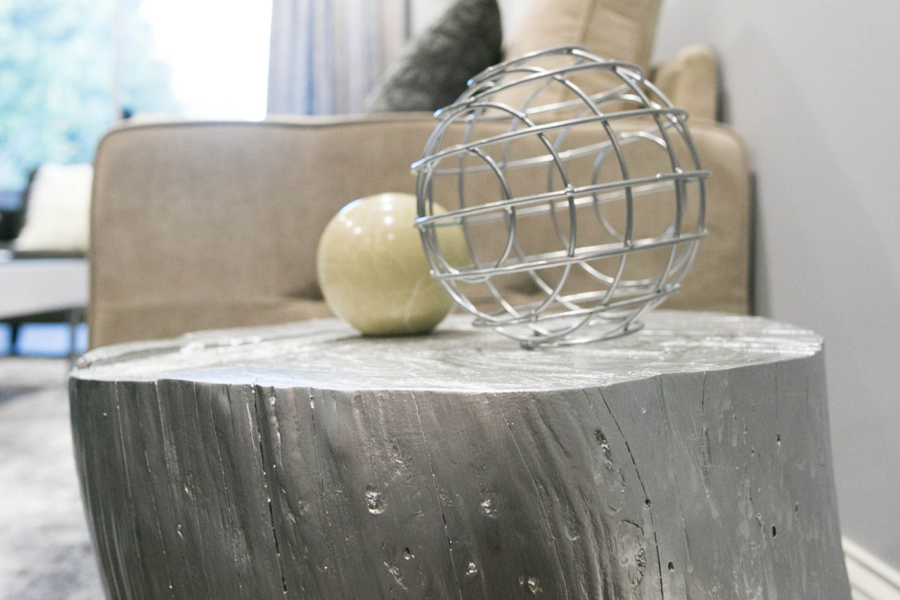 Mr Kate DIY Silver Wood Stump Side Table