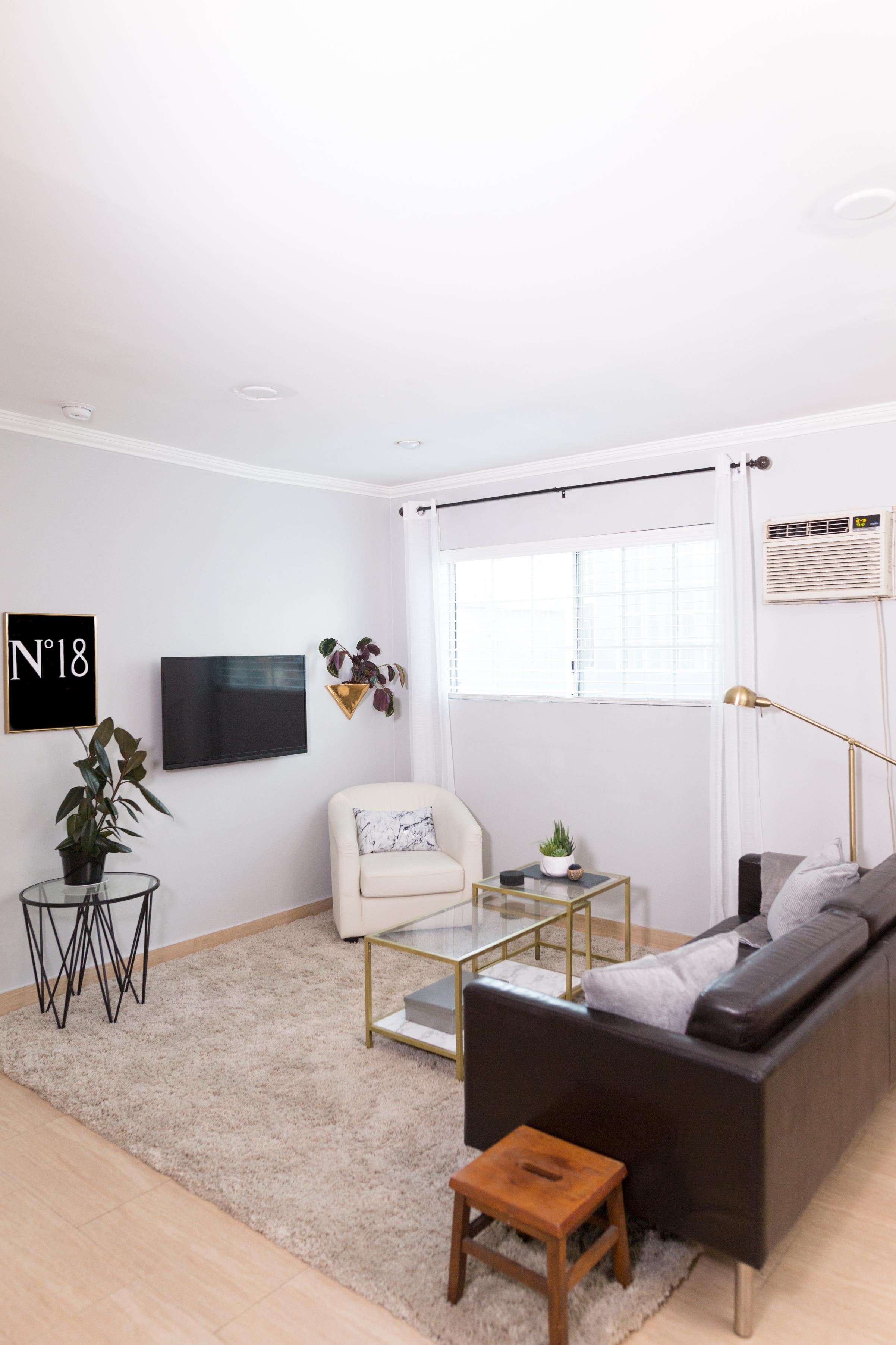 Mr. Kate - Tumblr Minimalist Living Room on a Budget!