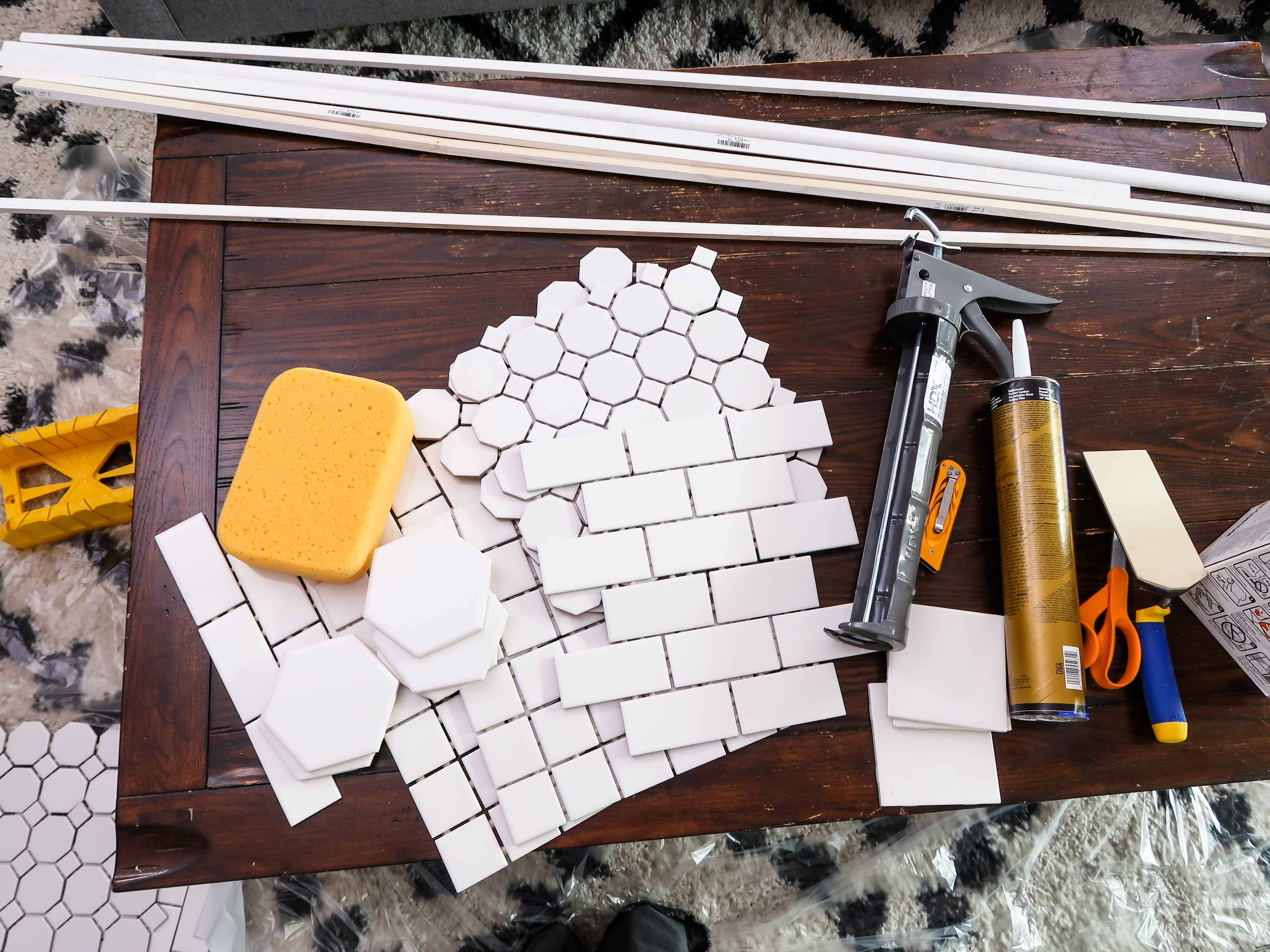Mr Kate DIY Upcycled Mosaic Coffee Table