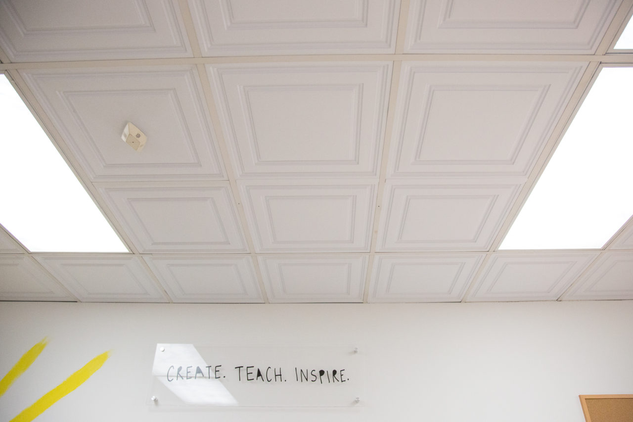 Mr kate diy drop ceiling fluorescent lights update if you move into a new office or apartment the space might be great but the ceilings are a tell tale sign of the era the building is from mozeypictures Gallery