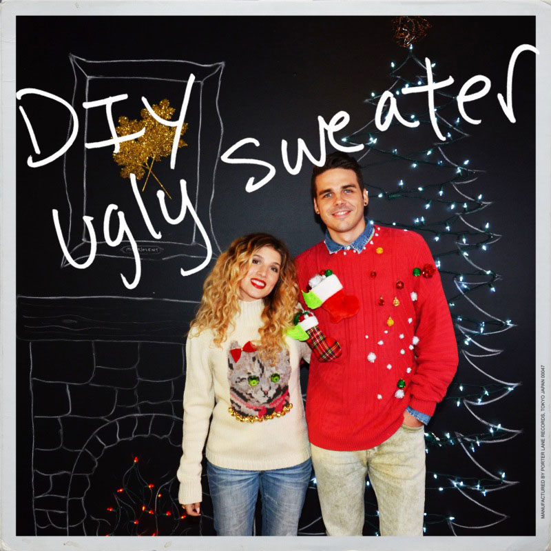 DIY Matching Ugly Christmas Sweaters | Christmas Sweater Ideas You Can DIY On A Budget | diy christmas tree sweater